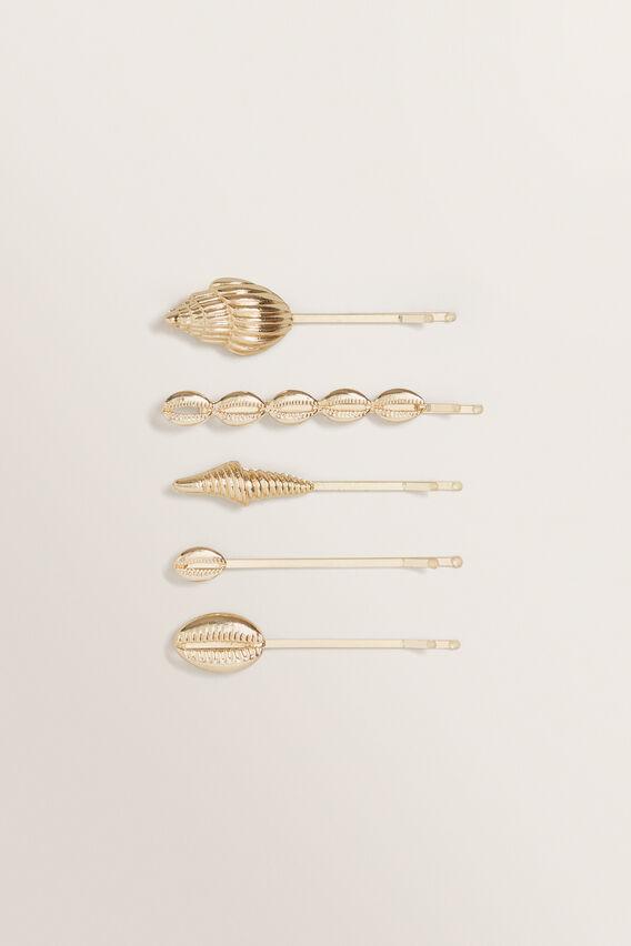 Shell Hair Pin Pack  GOLD  hi-res