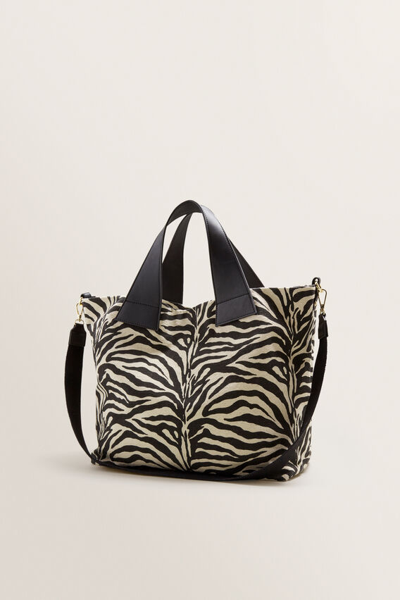 Alika Zebra Tote  BLACK MULTI  hi-res