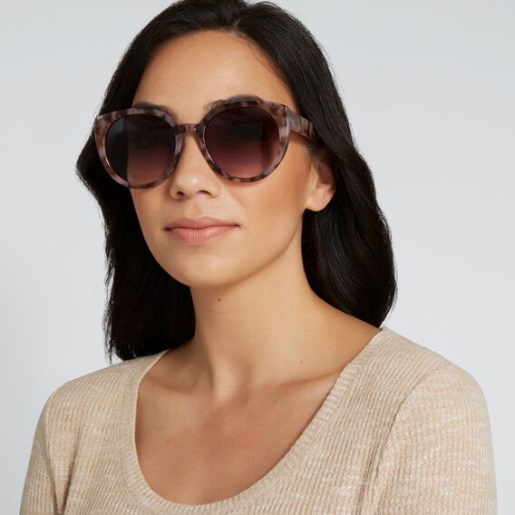 Oversized Cat Eye Sunglasses  TORT  hi-res