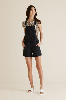 Denim Overalls  BLACK WASH  hi-res