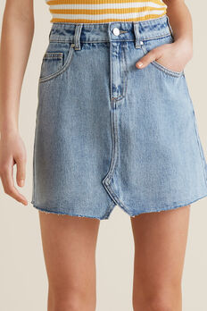 Rework Denim Skirt  SKY WASH  hi-res