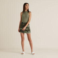 Utility Denim Skirt  CAMO  hi-res