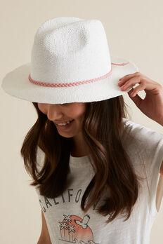 Straw Hat  WHITE  hi-res