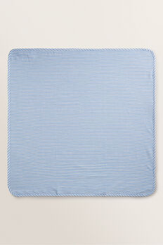 Stripe Muslin Wrap  CORNFLOWER BLUE  hi-res
