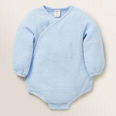 Wrap Cheesecloth Onesie  POWDER BLUE  hi-res
