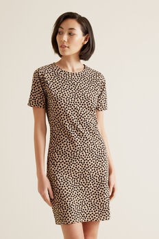 Animal T-Shirt Dress  OCELOT SPOT  hi-res