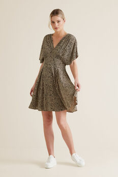 Animal Print Swing Dress  OCELOT  hi-res