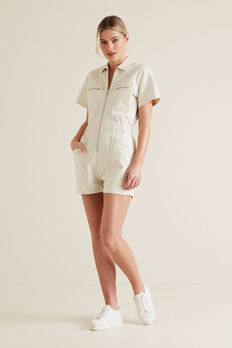 Denim Romper  OYSTER DENIM  hi-res