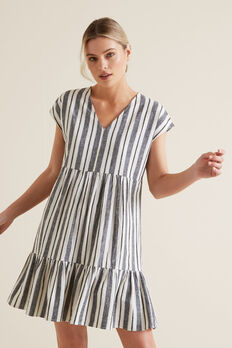 Variegated Stripe Dress  MULTI STRIPE  hi-res
