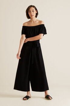 Crinkle Jumpsuit  BLACK  hi-res
