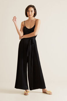 Pleated Jumpsuit  BLACK  hi-res