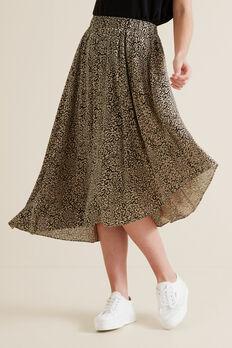 Asymmetric Animal Skirt  OCELOT  hi-res