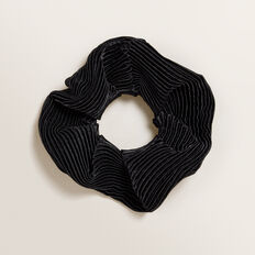 Pleated Scrunchie  BLACK  hi-res