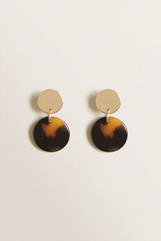 Mini Circle Drop Earring  GOLD/TORT  hi-res