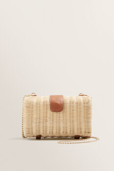 Rattan Clutch  NATURAL/ TAN  hi-res