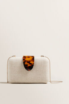 Textured Clutch  NATURAL  hi-res