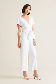 Wrap Front Jumpsuit  WHISPER WHITE  hi-res