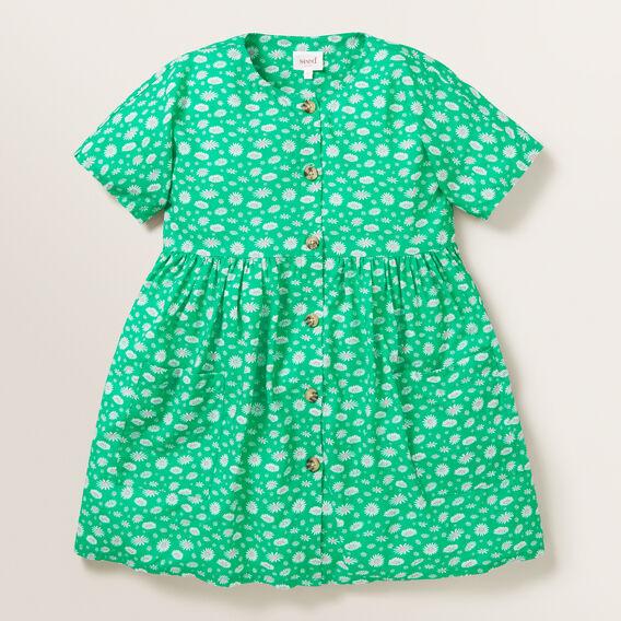 Daisy Yardage Dress  APPLE GREEN  hi-res