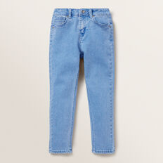 Skinny Denim Terry Pants  BRIGHT WASH  hi-res