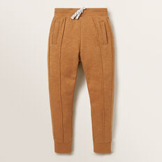 Pin Tuck Trackpant  NUTMEG  hi-res