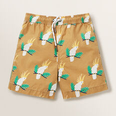 Mens Mini Me Cockatoo Board Short  CARAMEL  hi-res