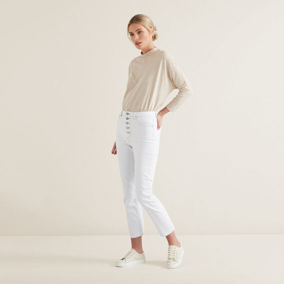 Mock Neck Slub Top  DESERT MARLE  hi-res
