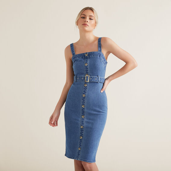 Belted Denim Dress  CLASSIC DENIM  hi-res