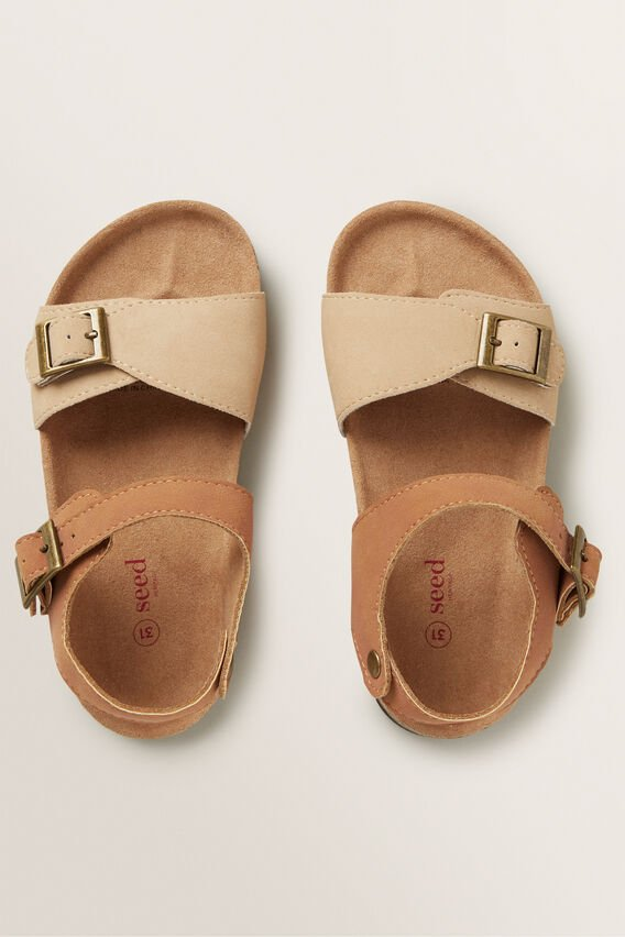 Two Tone Sandal  TAN  hi-res