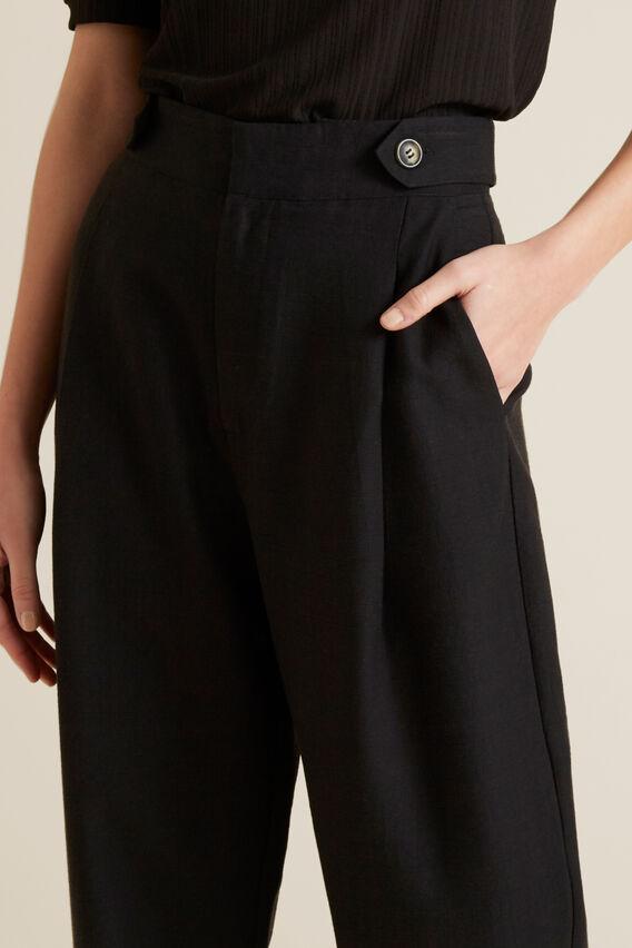 Tab Detail Pant  BLACK  hi-res