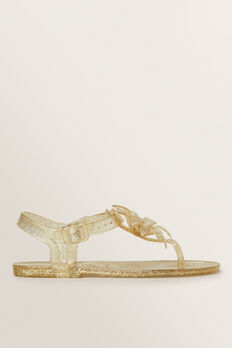Flower Jelly Sandal  GOLD  hi-res