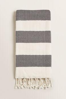 Beach Towel  BLACK/CREAM  hi-res