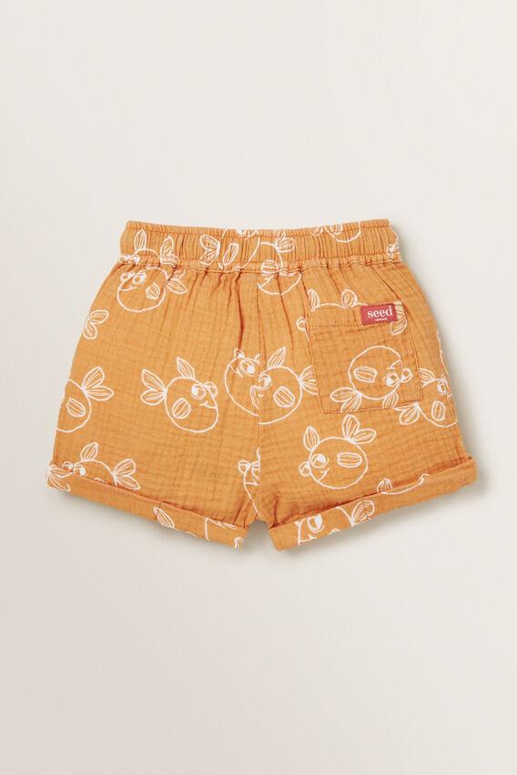 Cheesecloth Short  PEANUT  hi-res