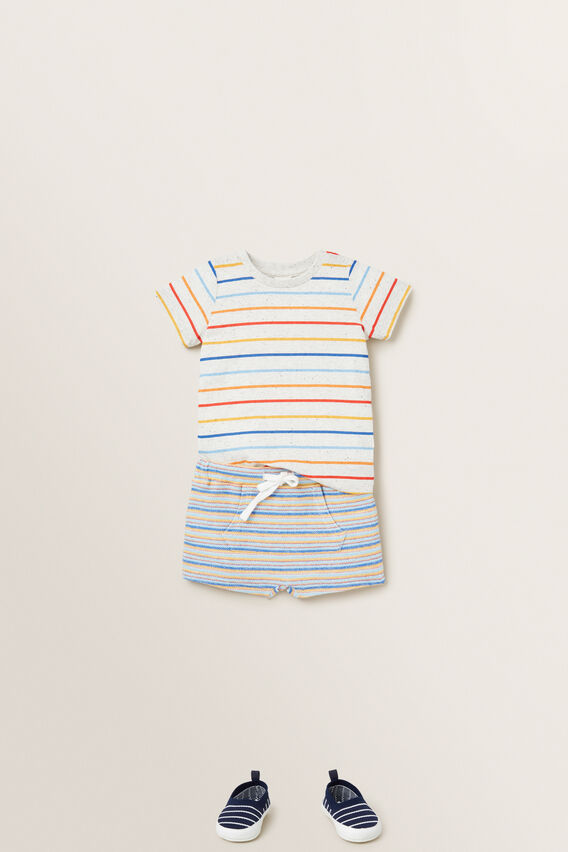 Stripe Tee  WHITE SPECKLE  hi-res