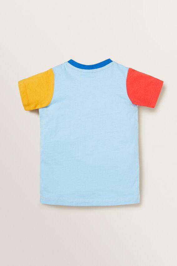 Colour Block Tee  MULTI  hi-res