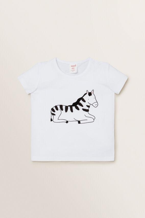 Zebra Tee  WHITE  hi-res