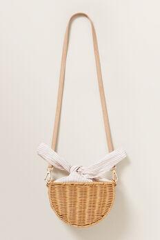 Tie Detail Straw Bag  NATURAL  hi-res
