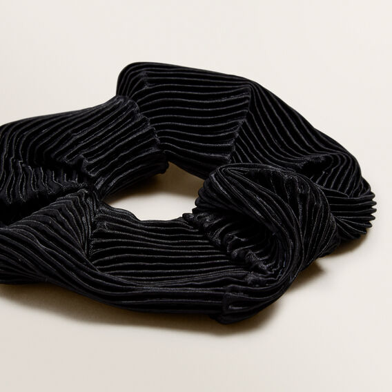 Pleated Scrunchie  BLACK  hi-res