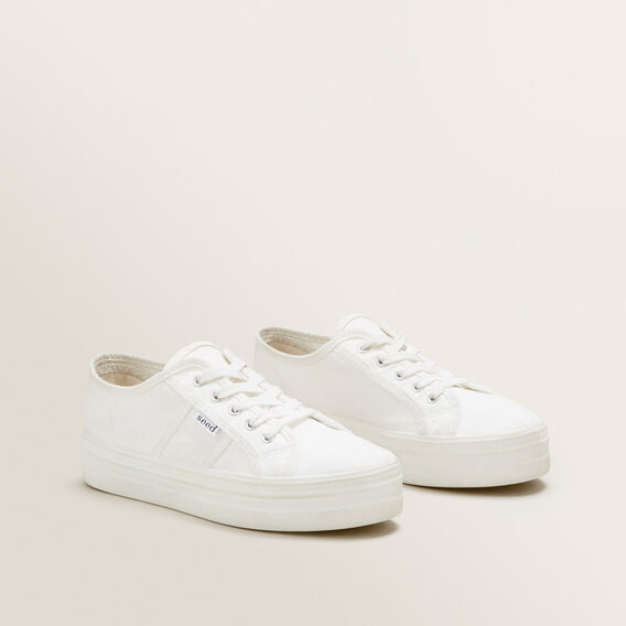 Billie Platform Sneaker  WHITE  hi-res