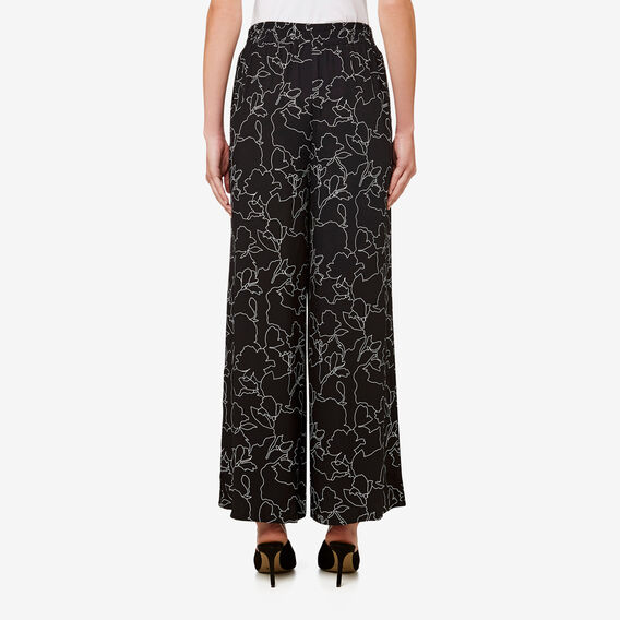 Printed Drape Pant  BLACK FLORAL  hi-res
