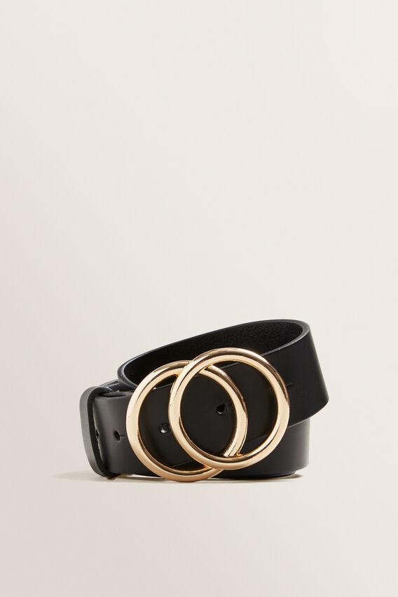 Double Ring Belt  BLACK  hi-res