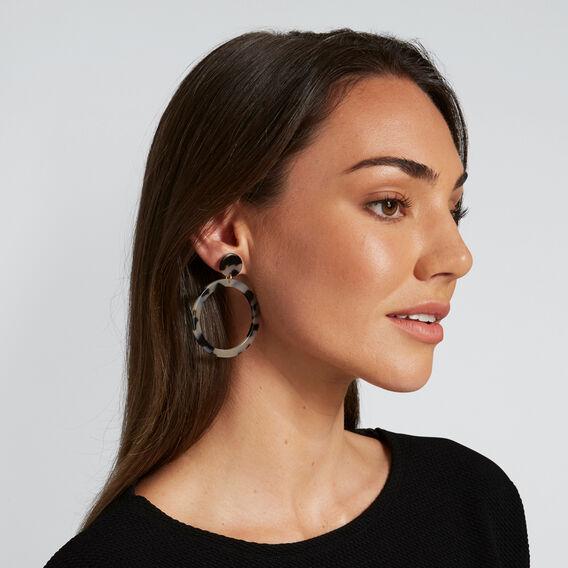Circle Tort Earrings  GREY TORT  hi-res
