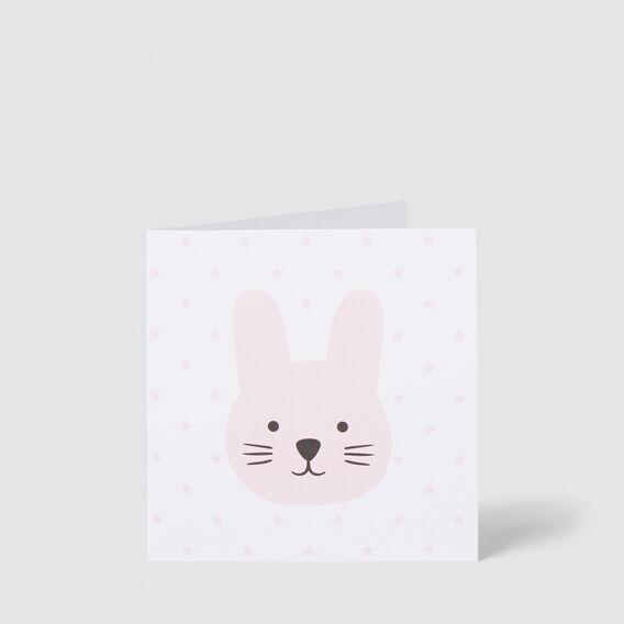 Small Pink Bunny Card  MULTI  hi-res