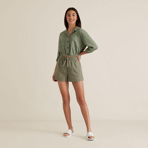 Linen Shirt  SAGE  hi-res