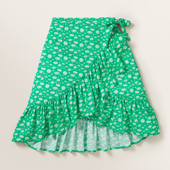 Daisy Wrap Skirt  APPLE GREEN  hi-res