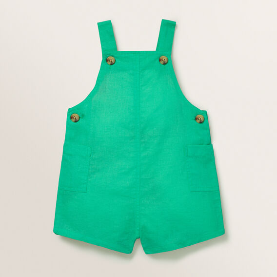 Linen Dungaree  APPLE GREEN  hi-res