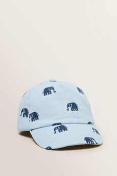 Elephant Print Cap  NORDIC BLUE  hi-res