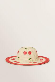 Cherry Floppy Hat  APPLE RED  hi-res