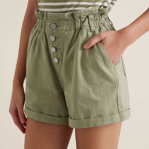 Paperbag Waist Short  WASHED OLIVE  hi-res