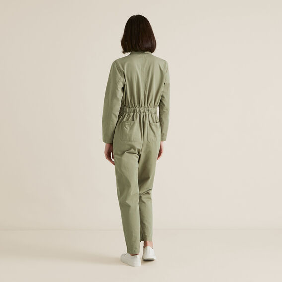 Zip Detail Boiler Suit  WASHED OLIVE  hi-res