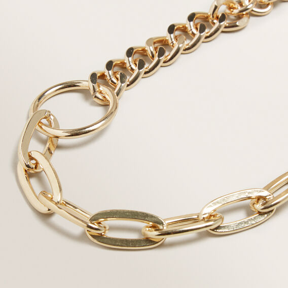 Chain Coin Necklace  GOLD  hi-res